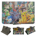 "Pokemons Pikachus animales Universales 7 pulgadas Tablet Caso Del Soporte de Cuero de LA PU cubierta 7.0 tablet kids para ipad mini samsung t110 7"""
