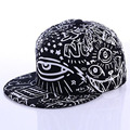 2016 new summer fashion painted black baseball hat outdoor skateboard hip-hop male hip-hop cap flat along the hat Merge Snapshot