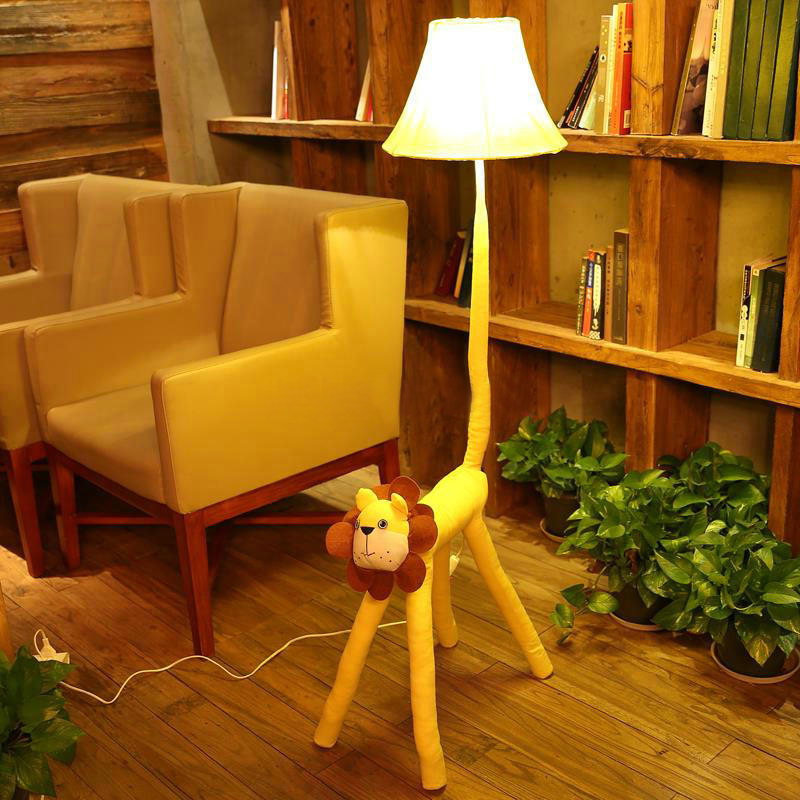 Aliexpress.com : Buy Yellow Lion Standing Lamp Bedroom Bedside Lamps Living  Room Cartoon Cloth Home Lighting From Reliable Standing Lamp Suppliers On  ... Part 92