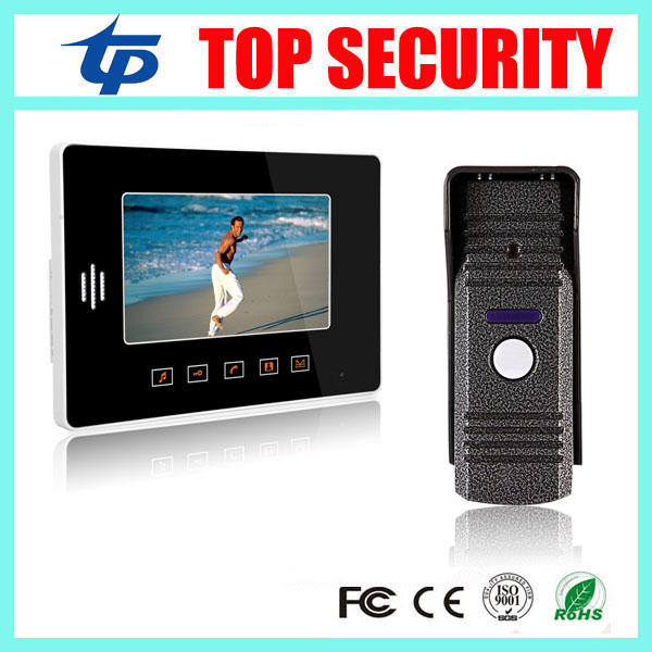 Good quality touch color screen night version IR camera 7 inch video door phone door bell intercom access control system 19 inch infrared multi touch screen overlay kit 2 points 19 ir touch frame