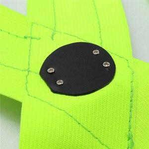 Image 5 - Новинка 2017, прочная качественная флуоресцентная зеленая светодиодная лента с usb зарядкой, светоотражающая жилетка, одежда для безопасности