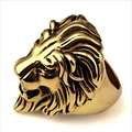2016 Original Tide Brand Lionhead Hip Hop Gold Ring Men Fashion HIPHOP Stainless Steel Ring Animal Rings