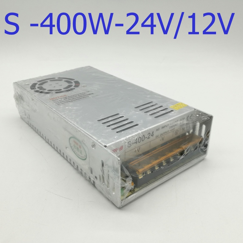 все цены на S-400W 24V Single Output Switching power supply power 400W 24v 16.5A ac to dc power supply ac dc converter онлайн