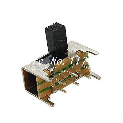 10 x 6 Pin PCB On-On 2 Position DPDT 2P2T Mini Slide Switch Side Knob SK22H02 fender jaguar jazzmaster slide switch dpdt black
