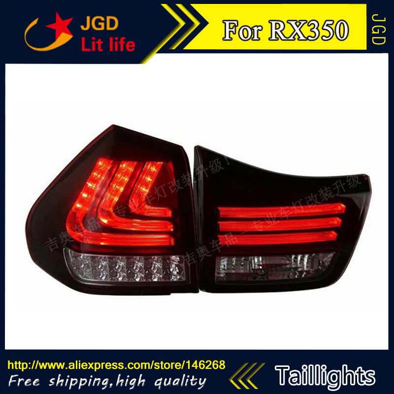 Car Styling tail lights for Lexus RX350 2004-2009 LED Tail Lamp rear trunk lamp cover drl+signal+brake+reverse smoke black for lexus rx350 led tail light assembly sonar brand rear lights fit 2009 cars with flashing moving turn lights
