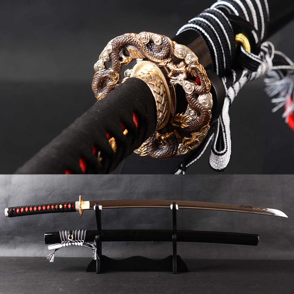 Bradon épées métal affûté épée argile trempé samouraï Katana acier à haute teneur en carbone formation de haute qualité couteau japonais métal Dec