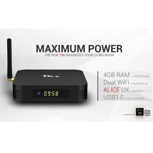 Image 4 - Wechip TX6 アンドロイド 9.0 TV ボックス 4 グラム 32 グラム/64 グラム Allwinner H6 クアッドコア 2.4 グラム + 5 グラムデュアル無線 Lan BT 4.1 4 4K テレビボックス HD H.265 Youtube セットトップボックス