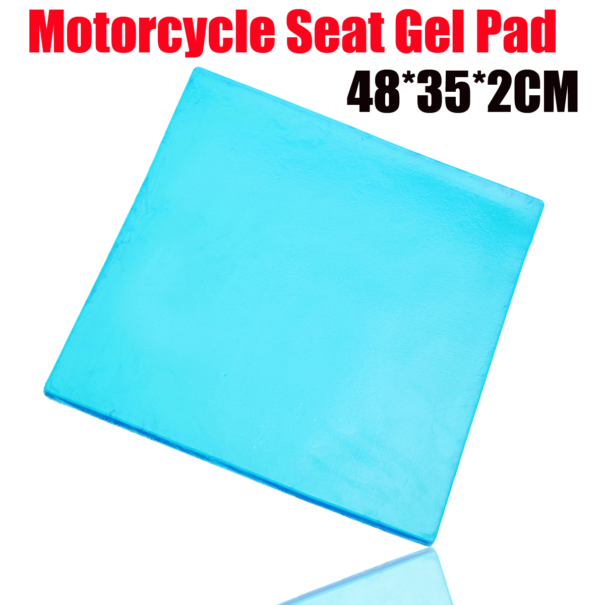 New DIY Modified 2cm Thickness Damping Silicone Gel Pad Motorcycle Seat Cushion Comfortable Mat shock absorption Mats 48x35cm
