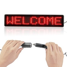 2 Pcs/lot 7*41Dots Led Car Display Board DC12V Remote Control Programmable Srolling Message Car Sign
