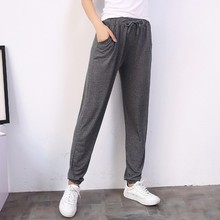 Spring and summer Women Casual Sweatpants black Pant Ladies
