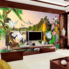 Beautiful natural scenery landscape painting wall professional production mural wholesale wallpaper custom photo