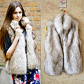 Moda de invierno faux fur abrigo XL XXL XXXL 20 s de las mujeres la fourrure de abrigo abierto stitch otoño abajo chaleco chaleco chaleco femmes