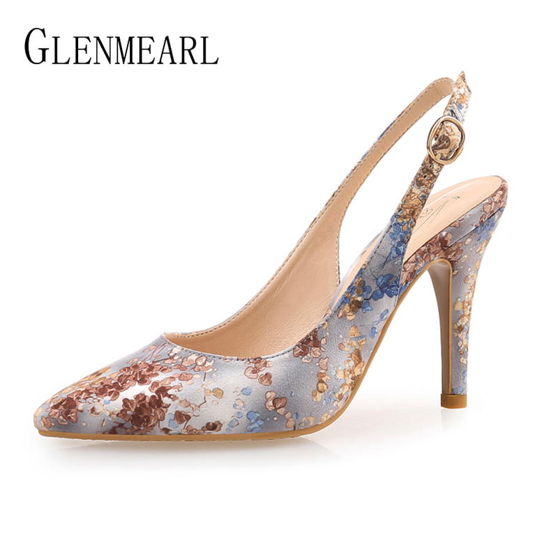 Women Pumps High Heels Shoes Female Brand Butterfly-knot Wedding Shoes Thin Heel Embroidered cloth Party Ladies Shoe Plus Size Karachi