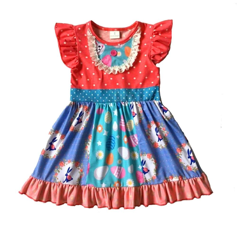 2019 girls easter bunny dress pearl sleeve kids clothing