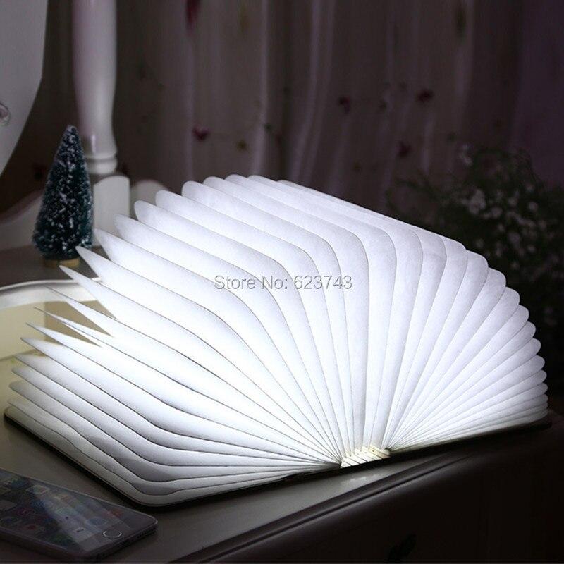 Free shipping 1 piece Foldable LED Book Lamp USB Rechargeable led Book light portable led emergency lighting 1 piece free shipping silver color