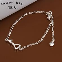 A024 // Promotion Factory Price 925 jewelry silver plated popular anklets Chain,wholesale fashion Foot Chain