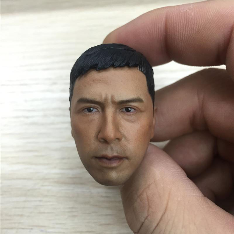 1:6 Scale Ip Man Head Sculpt Male Soldier Donnie Yen Kongfu Head Carving Model toys for 12inch Action Figure m5 image