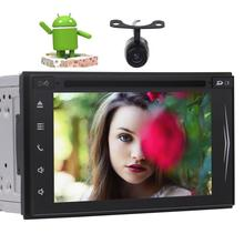 Rearview Camera include!Android 7.1 Car DVD Player Stereo GPS Navigation Radio Touchscreen Support USB SD FM RAM RDS Wifi 4G/3G