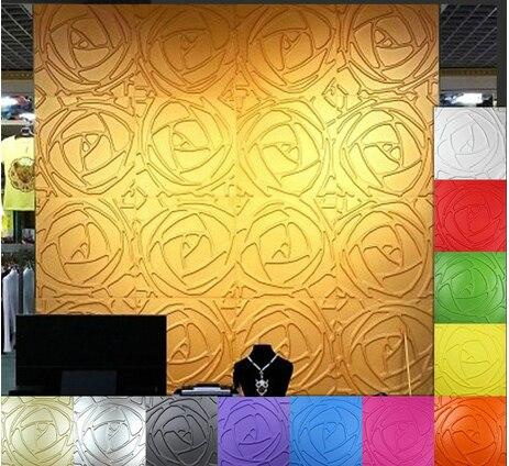 Fashion Bedroom Decoration Panels Color Embossed 3D Boards Metal KTV ...