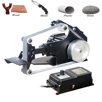 762*25mm Brushless Belt Sander 800W Fixed Angle Sharpening Machine Got 6 Free Abrasive Belt Small DIY Polishing Machine SD 762WS