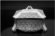large Classical European Gothic Eternity Rose Princess metal jewelry box keepsake souvenir box case Z010