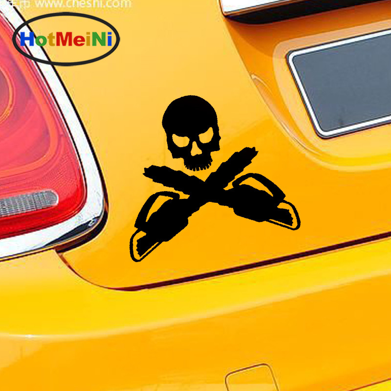 HotMeiNi Hot Personalized Logger's Crossbones Sticker Car Window Truck Bumper Vinyl Decal Arborist Forestry Chainsaw Tree Axe halloween decor sticker 3d transparent car back rear window decal vinyl sticker horror monsters zombie