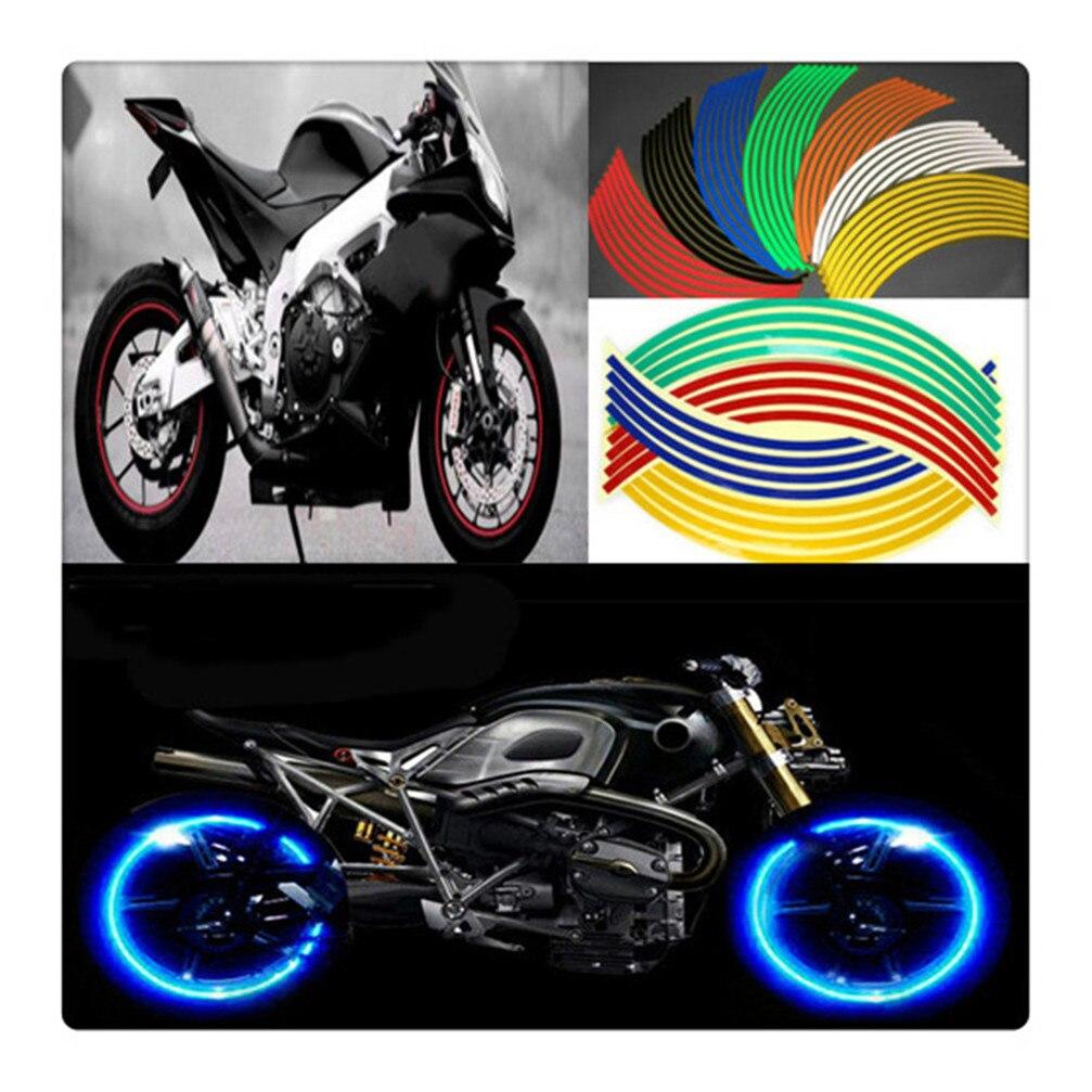 Universal Reflective Motorcycle Tire Rim Stripe Wheel Stickers Sticker For YAMAHA MT03 MT25 FAZER600 FZ6S FZ6N FZ6R YBR 125