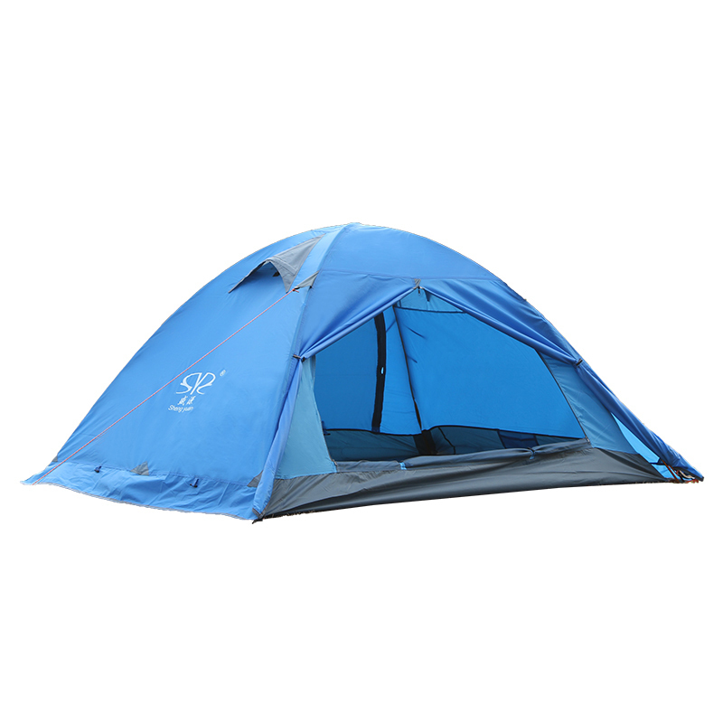 ShengYuan Outdoor Camping Tents Comfortable Breathable Anti-tear Tents Double Layer For Hiking Beach Travel Durable Couple Tents