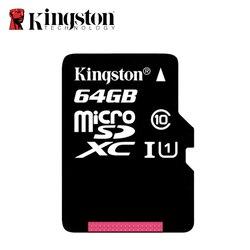 كينغستون مايكرو sd بطاقة الذاكرة 64 جرام class10 جرعة صغيرة بطاقة 64 جيجابايت sdhc/sdxc بطاقة tf بطاقة ذاكرة فلاش مايكرو sd uhs للجوال الهاتف