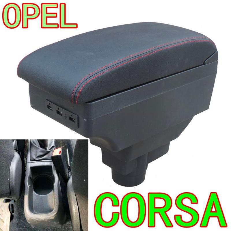 For Opel Corsa Armrest Box Opel Corsa D Universal Car Central Armrest Storage Box modification accessories