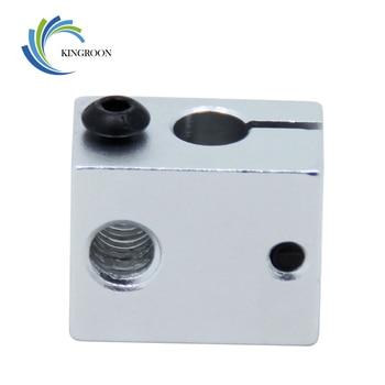 Aluminium V6 Heat Block For V5 V6 J-head Extruder HotEnd 3D Printers Parts Heater Hot End Heating Accessories 20*16*12 mm Part 1