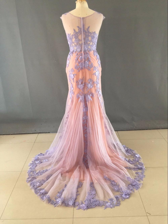 Imágenes reales Por Encargo de Coral Púrpura de La Sirena Vestidos ...