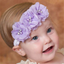 40407732cf368 Lace Baby Headband Chiffon Flower Princess Girls Newborn Infant Toddler  Headwear Hair Bow Headdress Children Hair Accessories