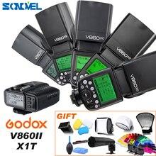 Беспроводная вспышка Godox V860II C/N/S/F/O, 2,4G, 1/8000s, 2000 мАч, литий ионный аккумулятор для Sony, Canon, Nikon, Olympus, Fujifilm