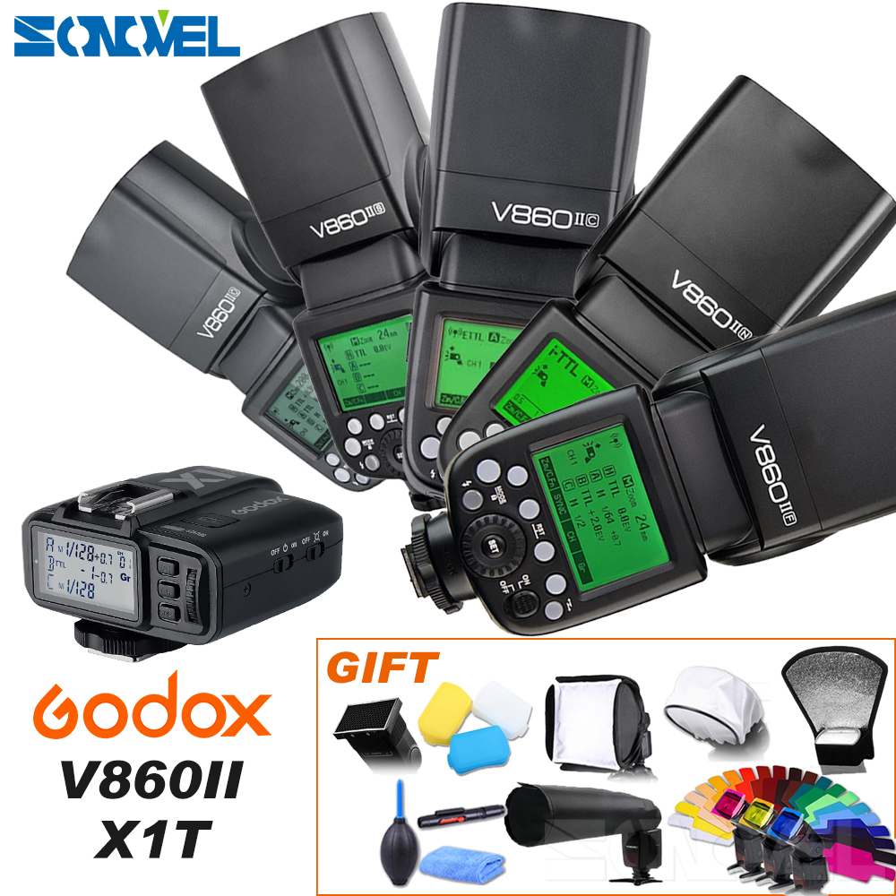 Godox V860II-C/N/S/F/O Flash 2.4g 1/8000 S 2000 mah Li -sur Batterie Sans Fil Flash lumière Pour Sony Canon Nikon Olympus Fujifilm