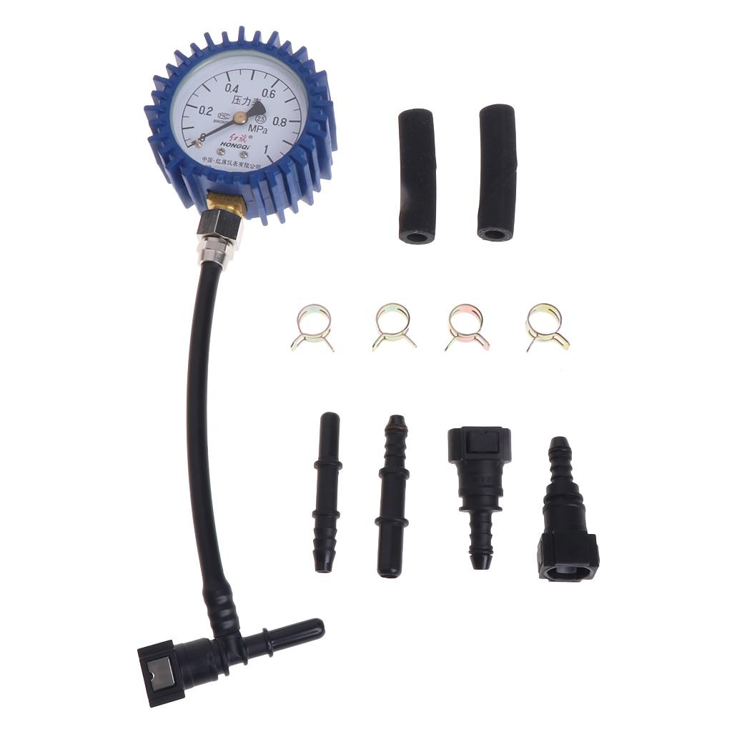 2018 High Quality New Motorcycle Car Fuel Pressure Gauge Car Gasoline Pressure Gauge Meter Tester Tool high quality gasoline