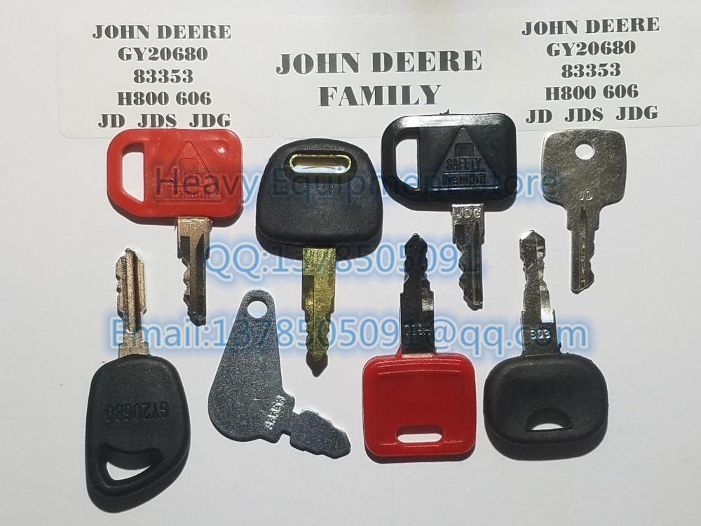 5pc new 606 Liebherr /& John Deere Heavy Equipment Ignition Starter Keys