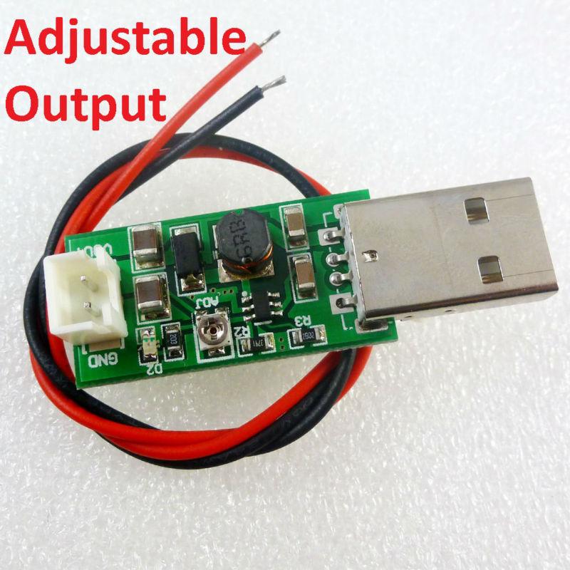 USB 5V to 6V-15V DC-DC Adjustable Step-Up Boost Converter Voltage Module  B