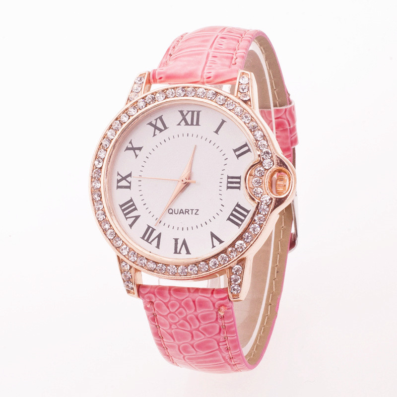 Reloj Mujer Leisure Rome PU Watch Top Brand Fashion Ladies Watches Leather Female Quartz Watch Women Thin Casual Strap Watch shengke top brand fashion ladies watches white leather marble dial female quartz watch women thin casual strap watch reloj muje