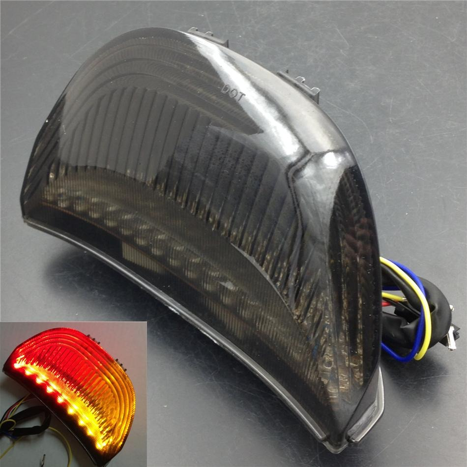 Aftermarket Motorcycle Parts  LED Tail Brake Light Turn Signals for  Honda CBR 600RR CBR1000RR RR Fireblade SMOKE aftermarket free shipping motorcycle parts led tail brake light turn signals for 2008 2012 suzuki hayabusa gsx1300r clear