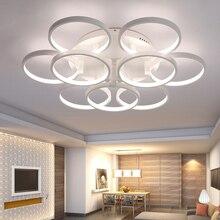 Minimalism Circel Rings Modern Led Chandelier lights lamp for living room bedroom Remote control dimming chandelier fixtures