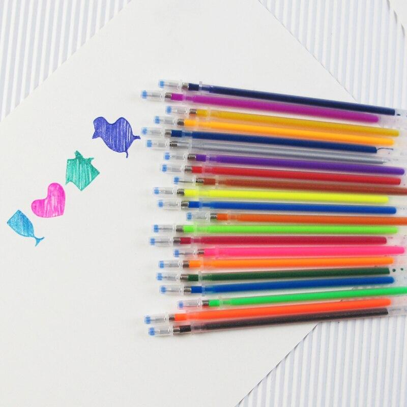 48 color set flash pen gel pen highlighter color plus core pen
