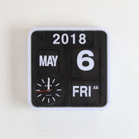 Цифровой флип часы Винтаж Электронный Календарь Настольные часы 9 для студенческого офиса Ретро Авто Флип часы Page Turning настольные часы