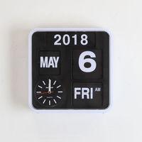 Digital Flip Clock Vintage Electronic Calendar Table Clocks 9 for Student Office Retro Auto Flip Clock Page Turning Desk Watch