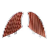New Style 2pcs Set Wood Veneer FCS Keel Fins