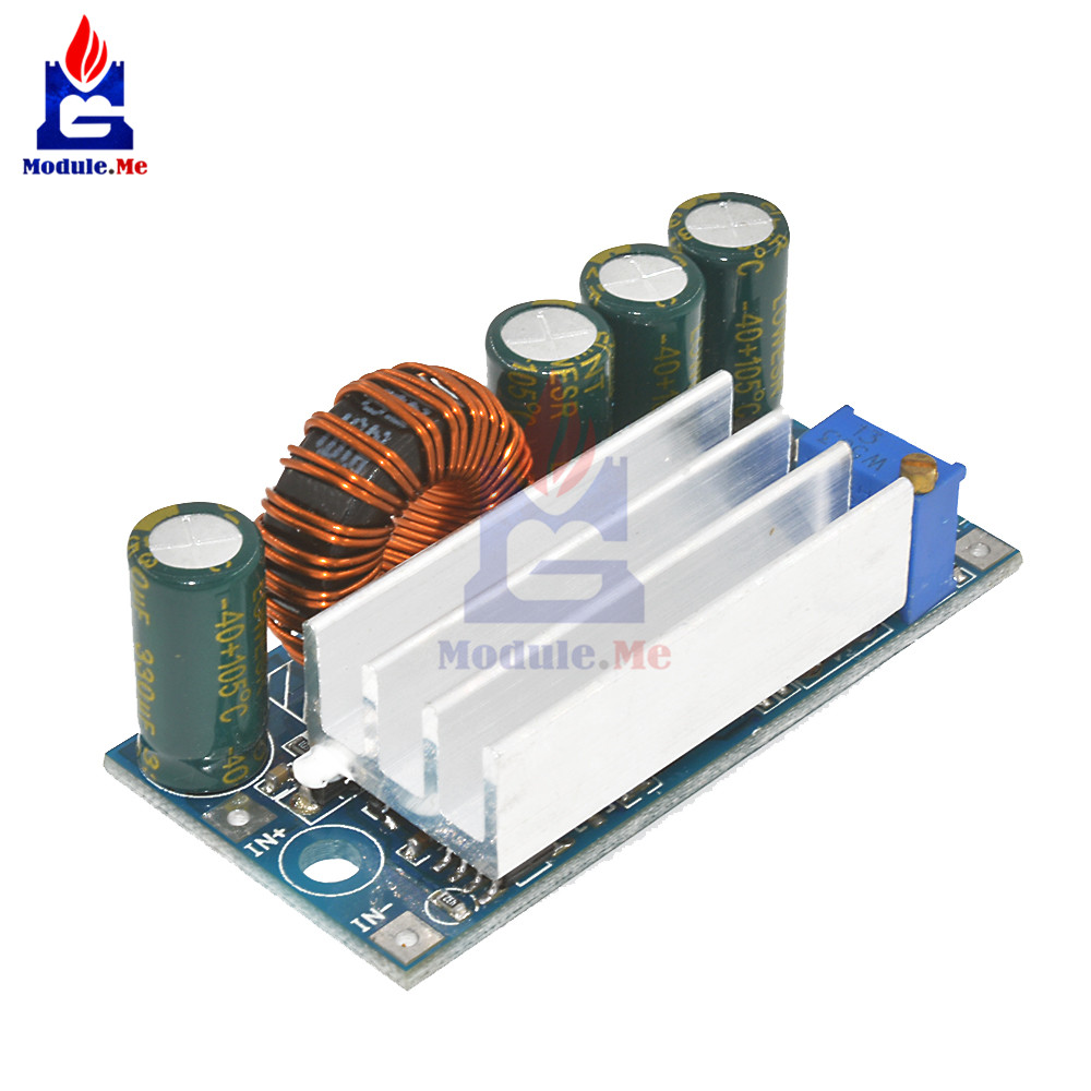 Step Up Down <font><b>DC</b></font> Power <font><b>Supply</b></font> AT30 Converter Buck Boost Board Module Replace XL6009 4-30V To 0.5-30V Cooling Fan 5V 12V image