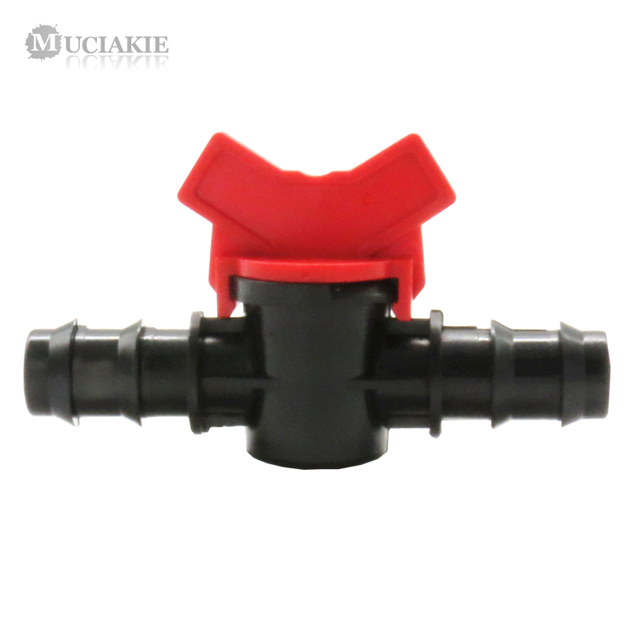 MUCIAKIE 16mm 20mm Barbed Equal Coupling Switch Valve Double Way Irrigation Connector Garden Faucet Adaptor