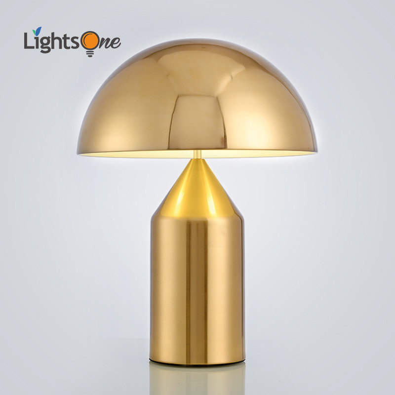 Postmodern minimalist light bedroom study table light Nordic personality creative mushroom table lamp