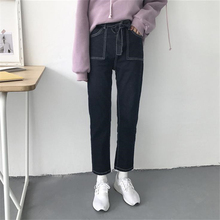 DoreenBow New Women Skinny High Waist Jeans Woman Denim Straight Pants High Elastic Black Ladies Girls Jeans Fit Trousers, 1 PC