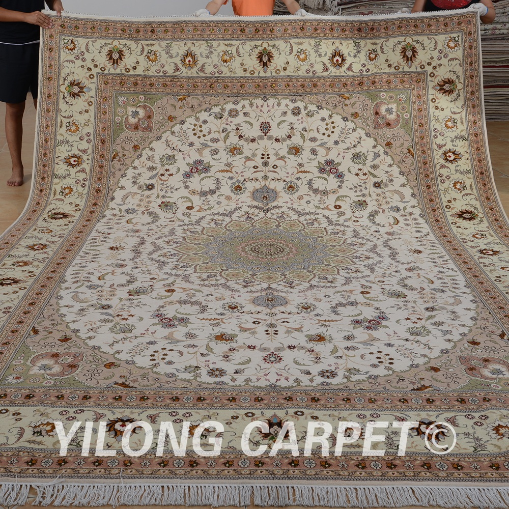 Yilong 9u0027x12u0027 Handmade Turkish Wool Rugs Exquisite Indian Carpets 1370